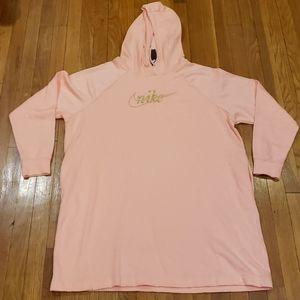 Nike FLC Glitter Hoodie Dress